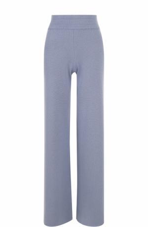 Расклешенные кашемировые брюки malo. Цвет: голубой