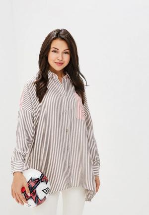 Рубашка L1FT. Цвет: коричневый