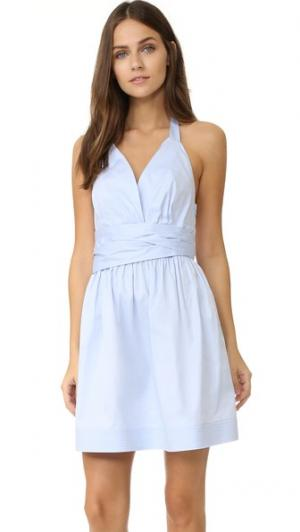 Мини-платье Dana Petersyn. Цвет: синий в мелкий горошек