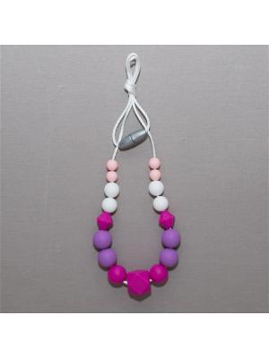 Бусы Краски лета. Цвет: малиновый, фиолетовый, бледно-розовый, белый