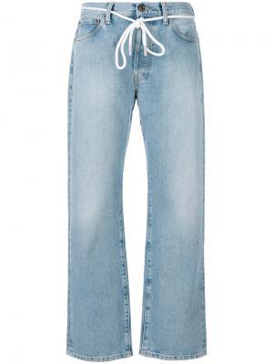 Прямые брюки Off-White. Цвет: синий