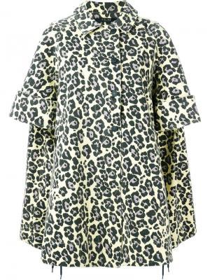 Leopard print oversized coat Sibling. Цвет: жёлтый и оранжевый