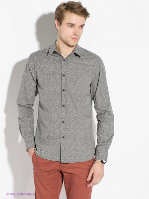 Рубашка Jack&Jones. Цвет: серый меланж