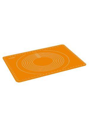 Коврик для приготовления OURSSON. Цвет: оранжевый