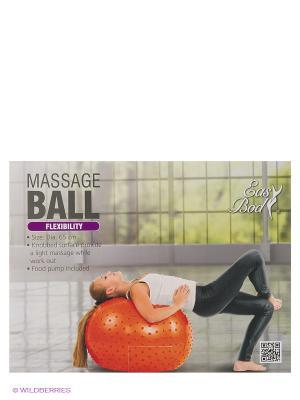 Мяч массажный Easy Body. Цвет: оранжевый