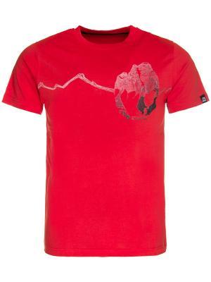 Футболка Alpine PRO. Цвет: красный