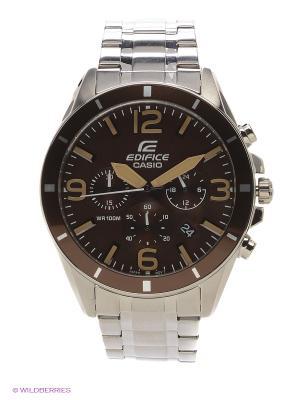 Часы EDIFICE EFR-553D-5B CASIO. Цвет: коричневый