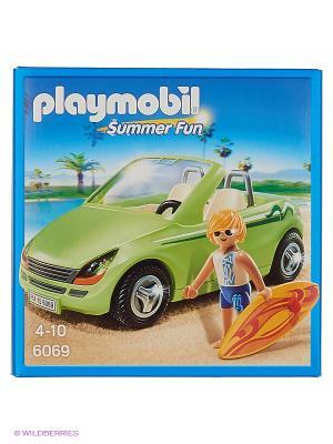 Каникулы: Родстер с серфингистом Playmobil. Цвет: салатовый