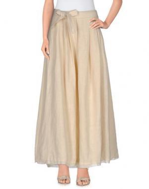 Длинная юбка NOSTRASANTISSIMA. Цвет: бежевый