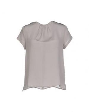 Блузка LA CAMICIA BIANCA. Цвет: голубиный серый
