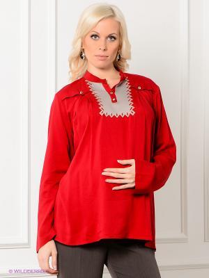 Кофточка Livaa. Цвет: красный, бежевый