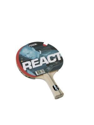 Ракетка для настольного тенниса REACT WRB ITTF (1877-01) Stiga. Цвет: красный