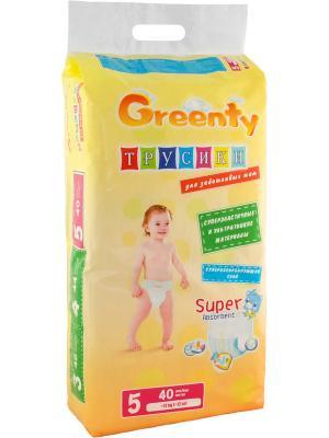 Одноразовые детские подгузники-трусики GREENTY 5 (+ 12 кг) 40 шт.. Цвет: белый