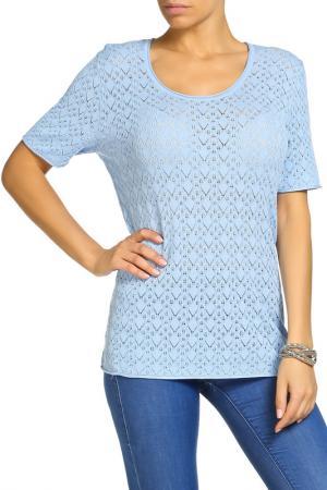 Блуза LAVELLE. Цвет: голубой