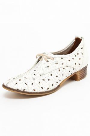 Туфли ENISSE. Цвет: белый