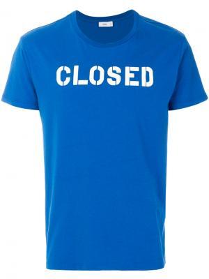 Футболка с логотипом Closed. Цвет: синий
