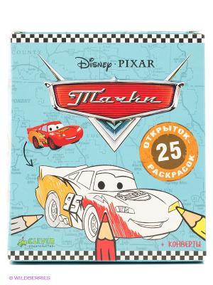 Тачки. 25 открыток-раскрасок Издательство CLEVER. Цвет: белый