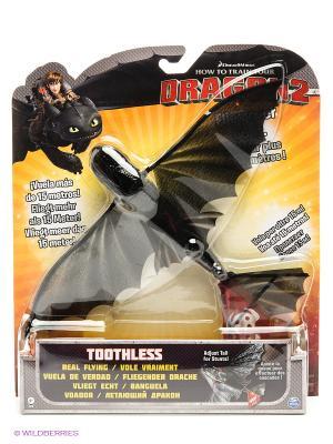 Игрушка Dragons летающий беззубик SPIN MASTER. Цвет: черный