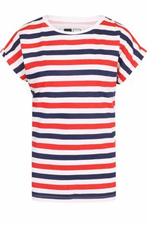 Хлопковая футболка в контрастную полоску Dedicated. Цвет: белый