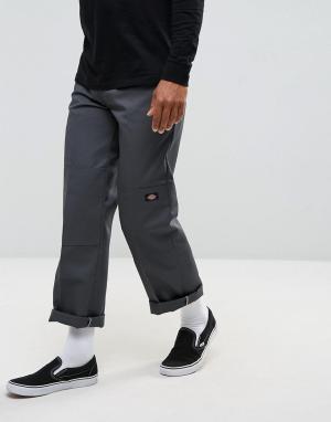 Dickies Свободные брюки со вставками на коленях. Цвет: серый
