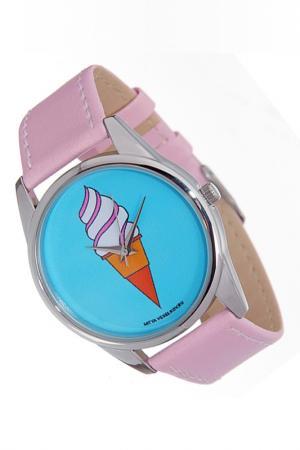 Часы Мороженное MITYA VESELKOV. Цвет: розовый
