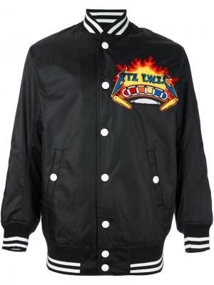 Куртка-бомбер с вышитой нашивкой KTZ. Цвет: чёрный