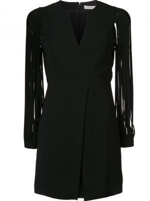 Платье c V-образным вырезом Halston Heritage. Цвет: чёрный