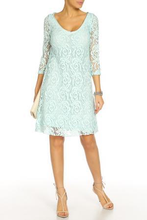 Платье Pois. Цвет: голубой