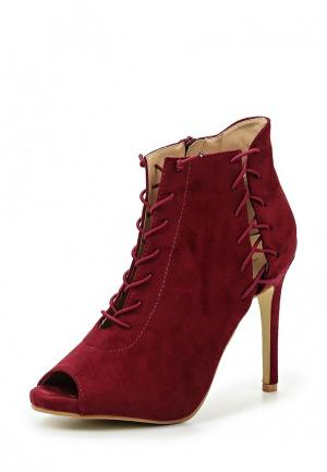 Ботильоны WS Shoes. Цвет: бордовый
