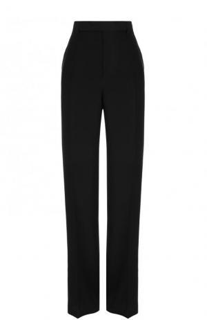 Шелковые расклешенные брюки со стрелками Rick Owens. Цвет: черный