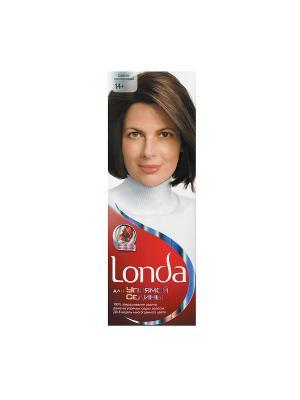 Крем-краска для волос упрямой седины стойкая 14+ Светло-каштановый LONDA. Цвет: белый, красный