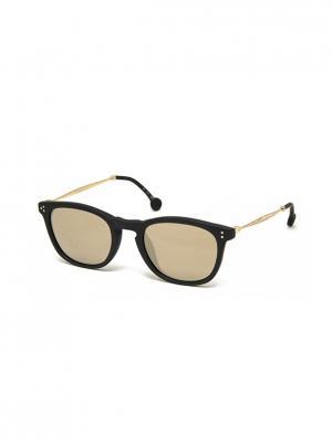 Солнцезащитные очки HS 612S 01 HALLY & SON. Цвет: черный, золотистый