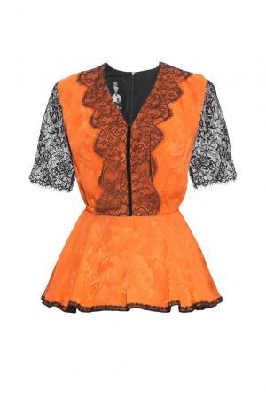 Блуза из шелка 161402 Iya Yots. Цвет: оранжевый
