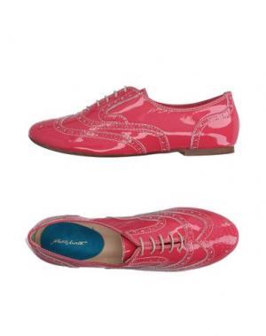 Обувь на шнурках ALBERTO MORETTI. Цвет: коралловый