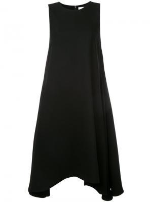 Платье с асимметричным подолом Enföld. Цвет: чёрный