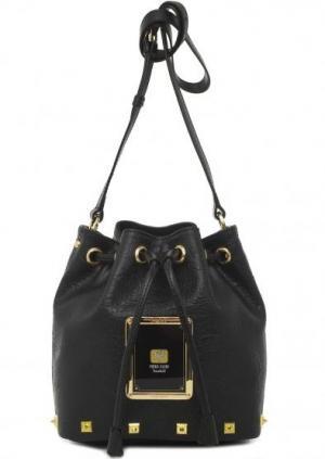 Маленькая черная сумка на кулиске Piero Guidi. Цвет: черный