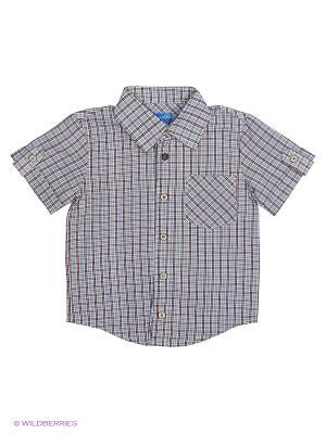Рубашка Stilnyashka. Цвет: голубой, красный