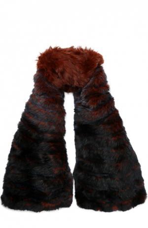 Шарф из меха кролика Yves Salomon. Цвет: бордовый