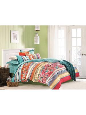 Комплект постельного белья 1,5 сп. сатин, рисунок 681 LA NOCHE DEL AMOR. Цвет: красный