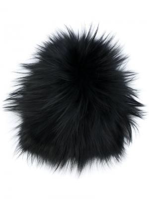 Классическая шапка Yves Salomon. Цвет: чёрный