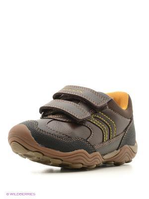 Ботинки GEOX. Цвет: коричневый, желтый