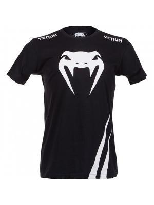 Футболка Venum Challenger - Black/White. Цвет: черный, белый