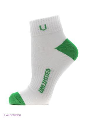 Носки, 5 пар Unlimited. Цвет: белый, зеленый