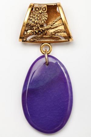 Кулон-украшение для платка Anastasiya Usoltseva. Цвет: фиолетовый