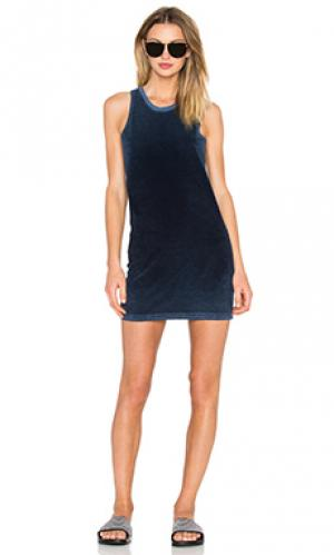 Платье-майка maui TYLER JACOBS. Цвет: синий