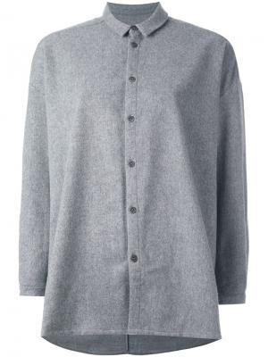 Рубашка с петлей на спине Toogood. Цвет: серый