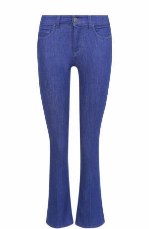 Укороченные расклешенные джинсы Victoria by Beckham. Цвет: голубой