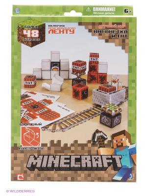 Игровой мир Вагонетка и ТНТ Minecraft. Цвет: зеленый
