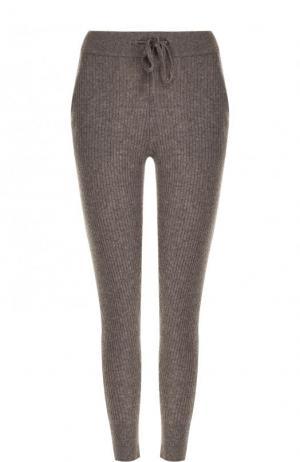 Укороченные кашемировые брюки-скинни James Perse. Цвет: серый