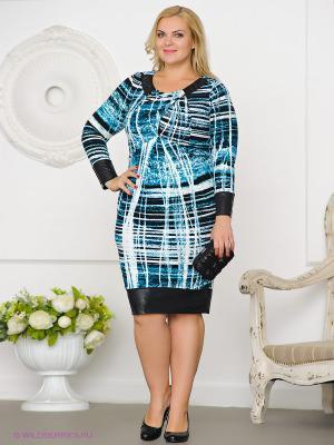 Платье Gemko plus size. Цвет: бирюзовый